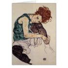 EgonSchiele- Sitzfrau mit verbogenem Knie Karte