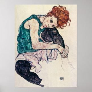 EgonSchiele Sitzfrauen-Plakat Poster