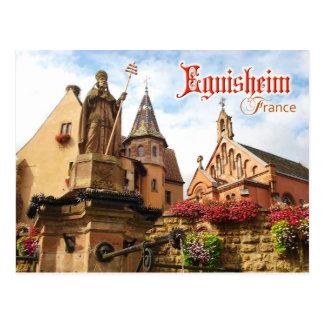 Eguisheim Schloss- und Papstst Löwe IX Kapelle, Postkarte
