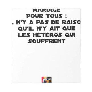 Ehe für alle gibt es keinen Grund, der er dort Notizblock
