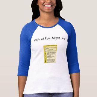 Ehefrau des Eposes könnte T-Shirt