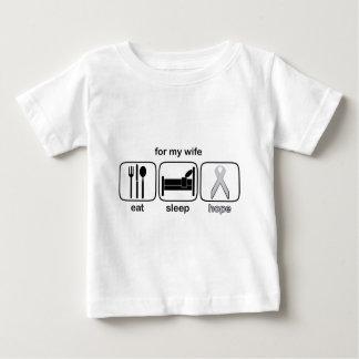 Ehefrau essen Schlaf-Hoffnung - Lungenkrebs Baby T-shirt
