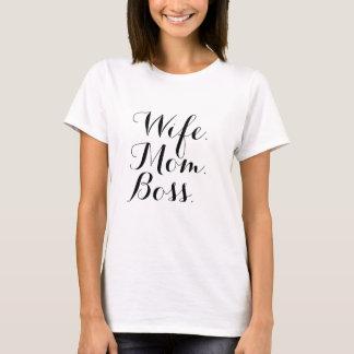 Ehefrau-Mamma-Chef-T-Shirt T-Shirt