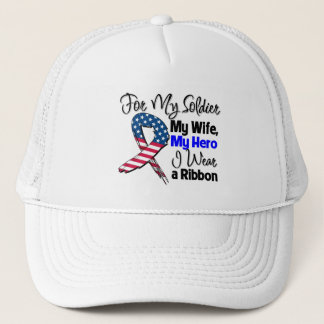 Ehefrau - mein Soldat, mein Held-patriotisches Truckerkappe