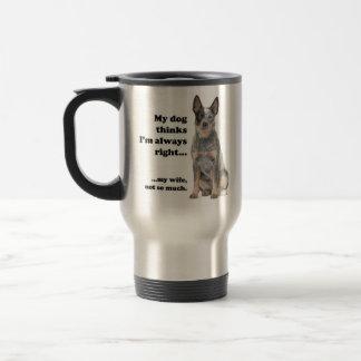 Ehefrau-Reise-Tasse des Vieh-Hundv Reisebecher