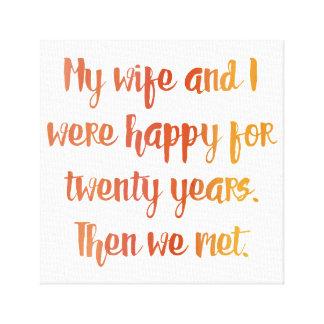 Ehefrau-Zitat Leinwanddruck