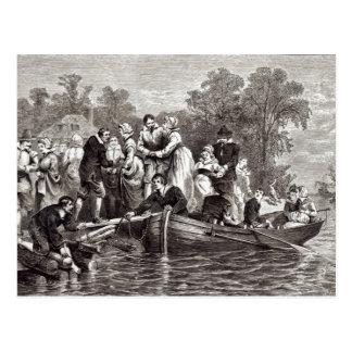 Ehefrauen für die Siedler bei Jamestown Postkarte