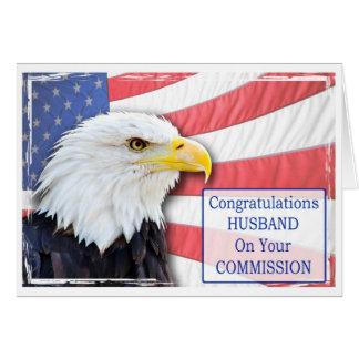 Ehemann, beauftragend mit einem Weißkopfseeadler Grußkarte