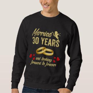 Ehemann-Ehefrau-Geschenk. 30. Jahrestags-T - Sweatshirt