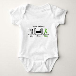 Ehemann essen Schlaf-Hoffnung - Lymphom Baby Strampler