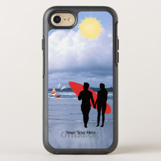 Ehemann-u. Ehefrau-Silhouette ließ uns Version, zu OtterBox Symmetry iPhone 8/7 Hülle