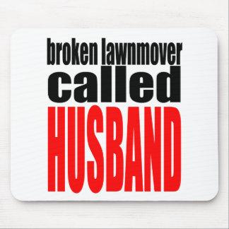 Ehemannheiratwitz lawnmover mousepad
