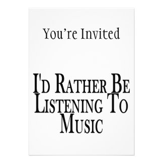 Eher hört Musik Ankündigungskarten