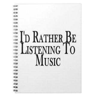Eher hört Musik Notizblock