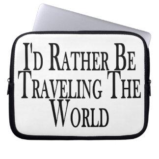 Eher reist die Welt Laptopschutzhülle