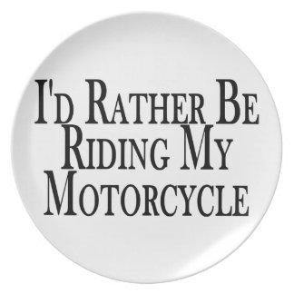 Eher reitet mein Motorrad Teller