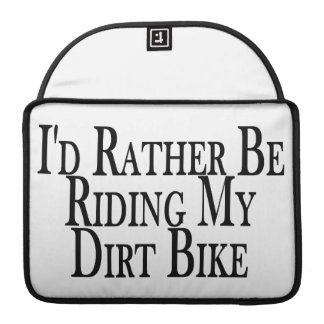 Eher reitet mein Schmutz-Fahrrad MacBook Pro Sleeve