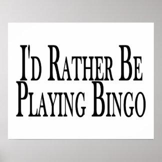 eher spielt Bingo Poster