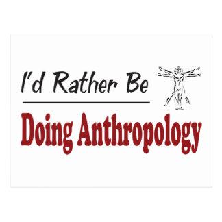 Eher tut Anthropologie Postkarte
