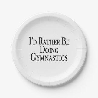 Eher tut Gymnastik Pappteller