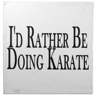 Eher tut Karate Stoffserviette