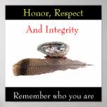 Ehre, Respekt und Integrität, erinnern sich… Plakat