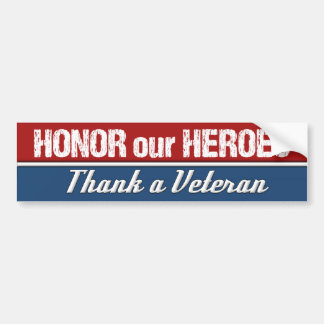 Ehren Sie unsere Helder danken einem Autoaufkleber