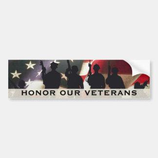 Ehren Sie unsere Militärveterane Autoaufkleber