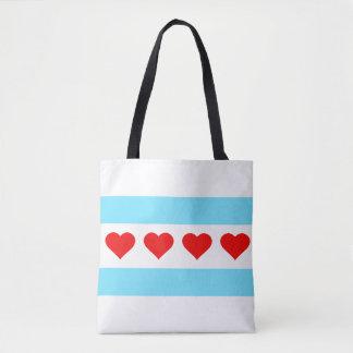 Ehrenchicago-Herz-Flaggen-Tasche Tasche