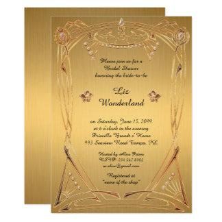 Ehrendes Brautparty, großes Gatsby, GOLD Karte
