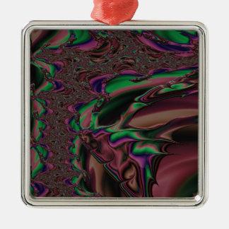 ehrerbietiges Großherzigkeits-Fraktal Silbernes Ornament