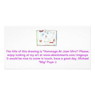 Ehrerbietung bei Joan Miro Photokarte
