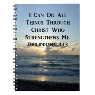 EHRFURCHT-INSPIRIEREN DES PHILIPPIANS-4:13 SPIRAL NOTIZBLOCK