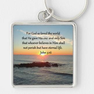 EHRFURCHT-INSPIRIEREN VON VON JOHN-3:16 SCHLÜSSELANHÄNGER