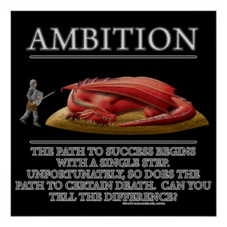 Ehrgeiz-Fantasie(De) Motivator Plakatdruck