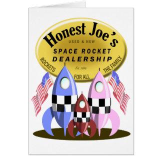 Ehrlichen Joes Weltraumrakete-Verkaufsstelle Karte