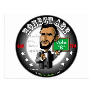 Ehrlicher Abe Postkarte