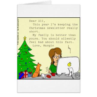 ehrlicher Rundschreiben-Cartoon der Familie x62 Karte