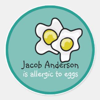Ei-Allergie-kundengerechter Aufkleber