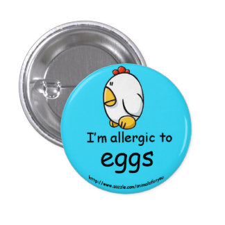 Ei-Allergie Runder Button 2,5 Cm