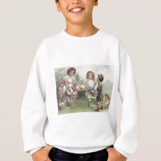 Ei-Baumwollvergissmeinnicht Ostern Küken farbiges Sweatshirt