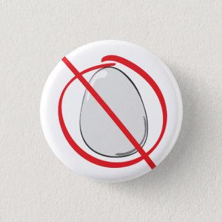 Ei frei - Allergie Runder Button 3,2 Cm