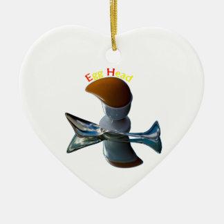 Ei-schrullige Hauptentwürfe Keramik Herz-Ornament