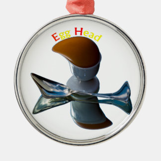 Ei-schrullige Hauptentwürfe Rundes Silberfarbenes Ornament