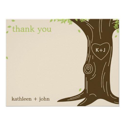 Eiche danken Ihnen zu kardieren Ankündigungskarte
