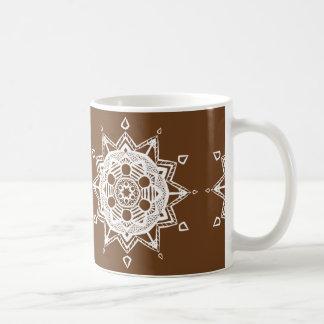 Eichel-Mandala Kaffeetasse