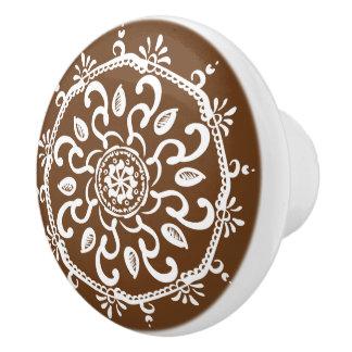 Eichel-Mandala Keramikknauf