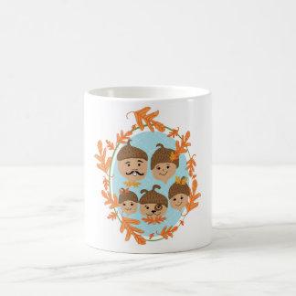 Eichel-nukleare Familie Kaffeetasse
