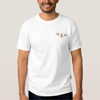 Eichel-Rolle Besticktes T-Shirt
