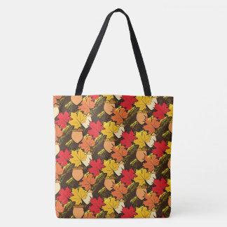 Eicheln und Blätter IV Tasche